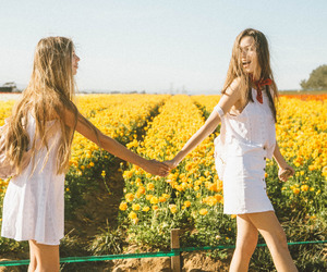 girls, friendship, and style image
