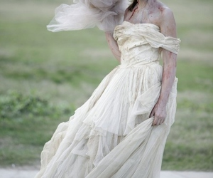 bride, zombie, and dress image