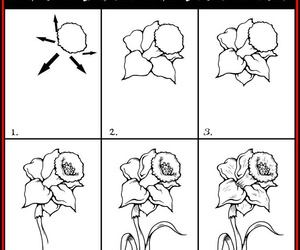flower and how to draw image