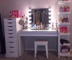 room, makeup, and light image