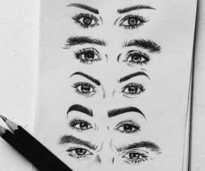 arte, drawing, and eyes image