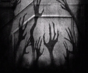 creepy, hands, and black image