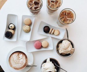 food, coffee, and ice cream image