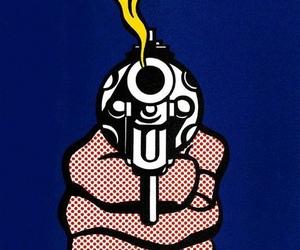 gun, pop art, and art image