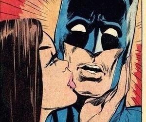 batman, kiss, and comic image