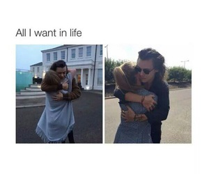 hug, Harry Styles, and one direction image