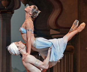 ballet, couple, and pointe image
