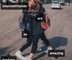 friends and internet friends image