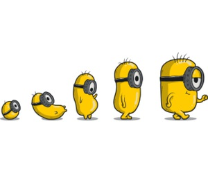 evolution, minion, and yellow image