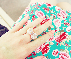 cute, ring, and fashion image