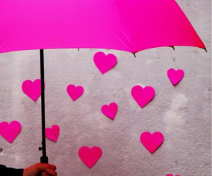 lovely, pink, and umbrella image