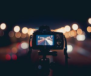 bokeh, camera, and night image