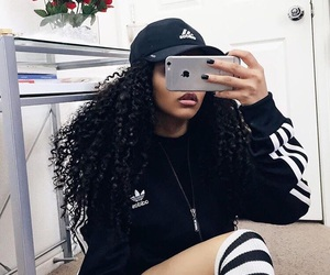 adidas, iphone, and curly image