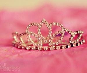 princess, pink, and crown image
