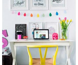 desk, home, and decor image