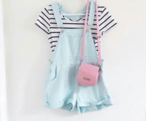 love this, pastel blue, and cute outfit image