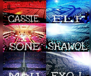 exo, fx, and girls generation image