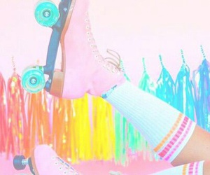 pastel, rollerblade, and tumblr image