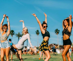 coachella, friends, and summer image