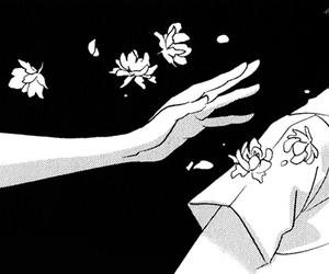 manga, anime, and flower image