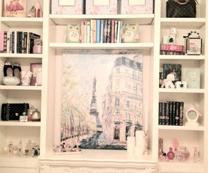 room, books, and girly image