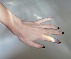 heart, tattoo, and hand image
