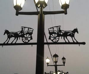 lights, street, and travel image