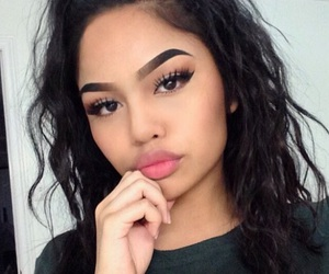 beauty, eyebrows, and makeup image