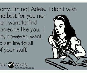 Adele, funny, and quotes image