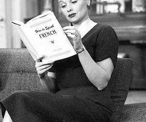 bw, Lucille Ball, and readings image