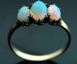 ring, opal, and bluemoon image