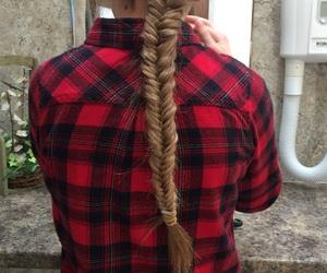braid, dyed hair, and hair image