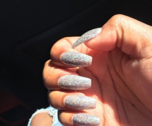 glitter, long nails, and tumblr image