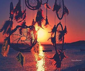 hippie, nature, and sunset image