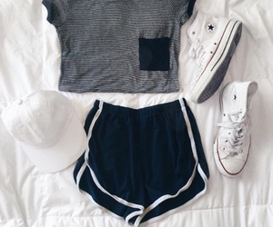 basic, outfit, and pocket tee image