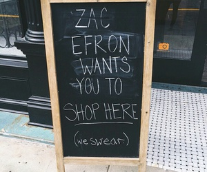 zac efron, funny, and shopping image