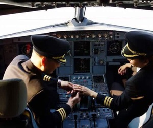 aviation, love, and airplane image
