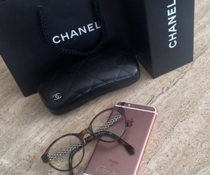 chanel, glasses, and iphone image