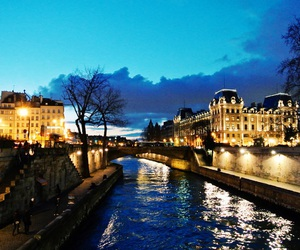 nuit, notredame, and pont image