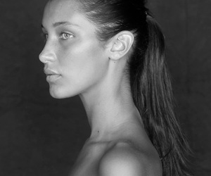 beauty, black and white, and model image