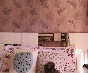 bed, bedroom, and decorated image