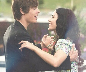 zac efron, vanessa hudgens, and high school musical image