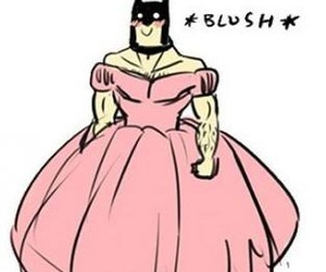 batman, dress, and pink image