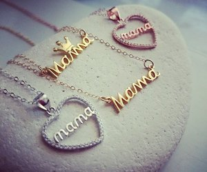 mothers day, gold mother necklace, and mama necklace image