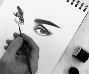 art, audrey hepburn, and draw image
