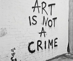art, crime, and grunge image