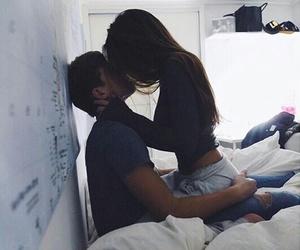 couple, girl, and kissing image