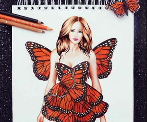 butterfly and fashion image