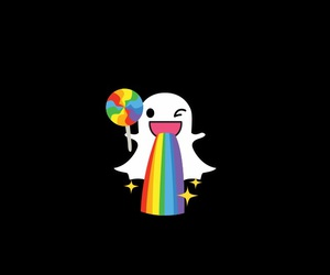 ghost, snapchat, and cute image