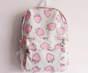 strawberry, bag, and pink image